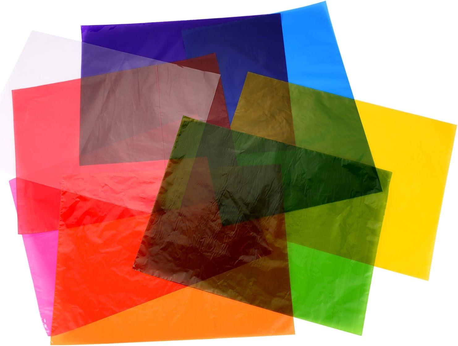 Outus Cellophane Wraps Cellophane Sheets Cello Sheets 11.8 by 8.5 Inch, 8 Colors, 104 Pieces: Home & Kitchen
