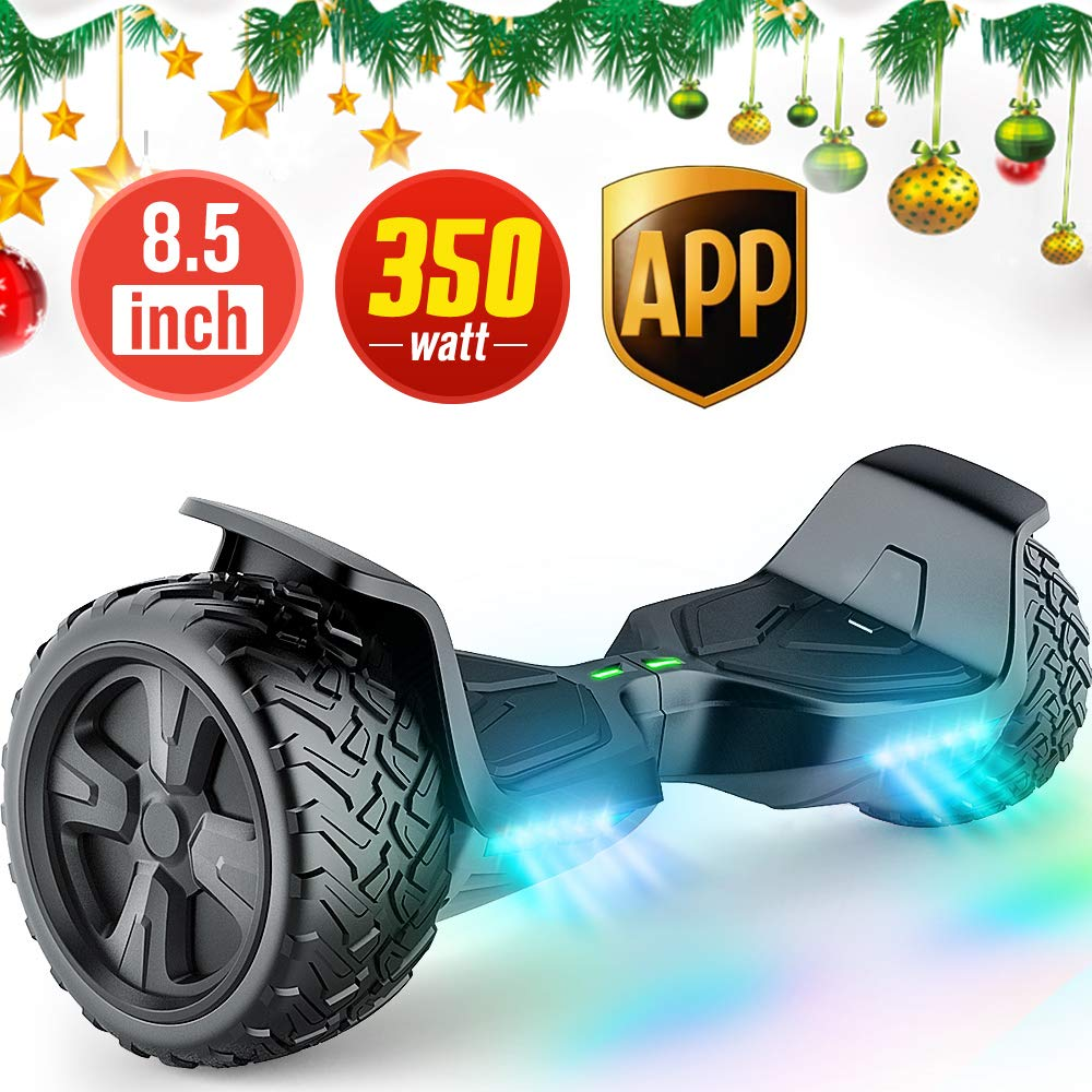 TOMOLOO Hoverboard with App and LED Lights Two-Wheel Bluetooth Self Balancing Scooter with UL2272 Certified, 8.5'' Wheel Electric Scooter for Kids and Adult