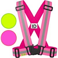 Tuvizo Reflective High Vis Vest for Adults & Kids - Hi Visibility All Day & Night with Emergency Identification Label. Reflective Gear Accessories For Running, Cycling, Dog-Walking, Car Safety, Highway Emergencies, Motorcycle, School & Horse Riding