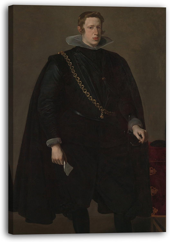Printed Paintings Impresión sobre Lienzo (80x120cm): Velázquez - Felipe IV (1605-1665), Rey de Es