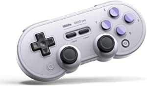 8Bitdo SF30 Pro Wireless Bluetooth Controller with Joysticks USB-C Cable Gamepad for Mac PC Android Nintendo Switch Windows macOS Steam