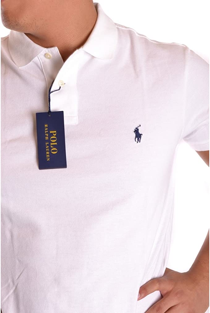 Polo Ralph Lauren SS KC Slim FIT, Polo para Hombre, Blanco (White ...