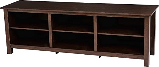 Rockpoint Argus Wood TV Stand Media Console 70-Inch Espresso Black