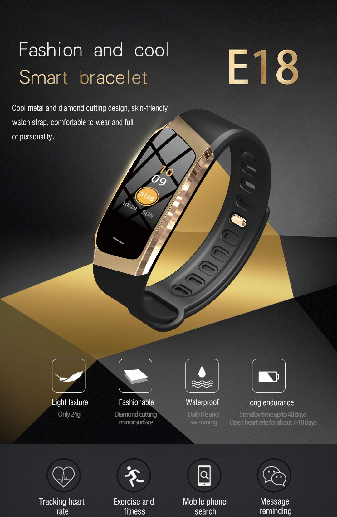 Byoung Activity Tracker Smart Watch,Kid Fitness Tracker with Heart Rate Monitor Smart Sport Watch Step Counter Sleep Monitor Sedentary Clock Remind Pedometer Calories Counter for iOS Andriod Gift by Byoung (Image #2)