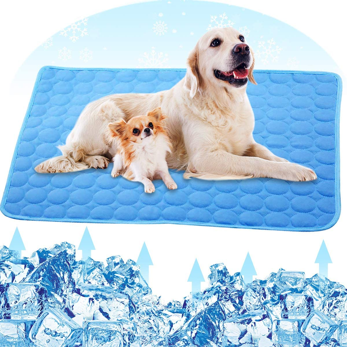 PETPLUS Dog Cooling Mat, Pet Cooling Pads for Dogs - Dog Mats Dog Accessories Dog Cooling Vest to Help Your Pet Stay Cool - Avoid Overheating, Ideal for Home & Travel