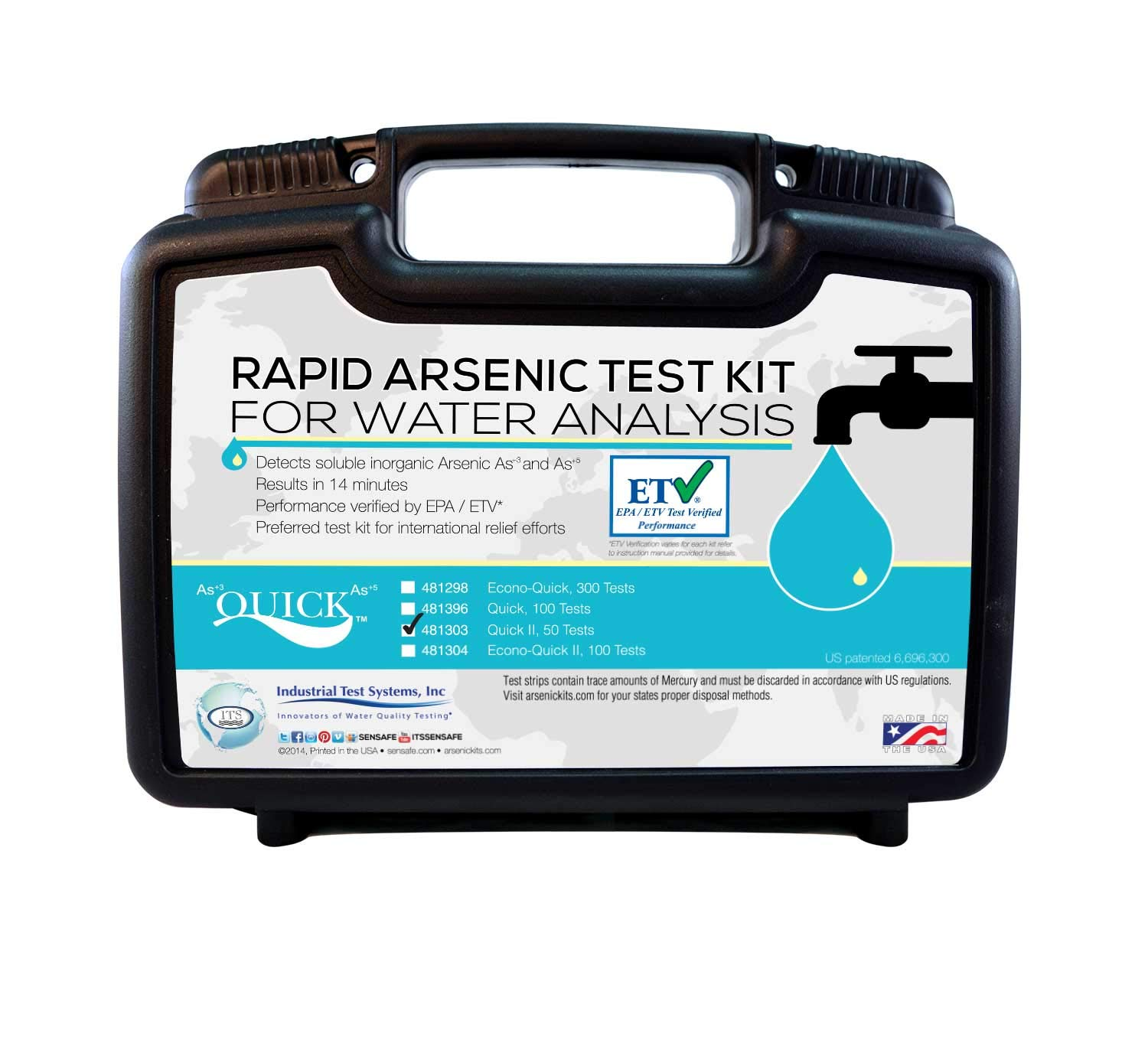 Industrial Test Systems Quick II 481303 Arsenic for Water Quality Testing, 50 Tests, 14 Minutes Test Time by Industrial Test Systems