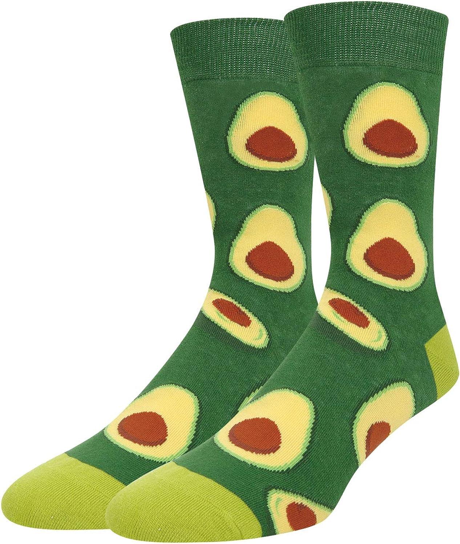 Zmart Men's Pineapple Avocado Socks Crazy Food Fruit Crew Sock Novelty Gift