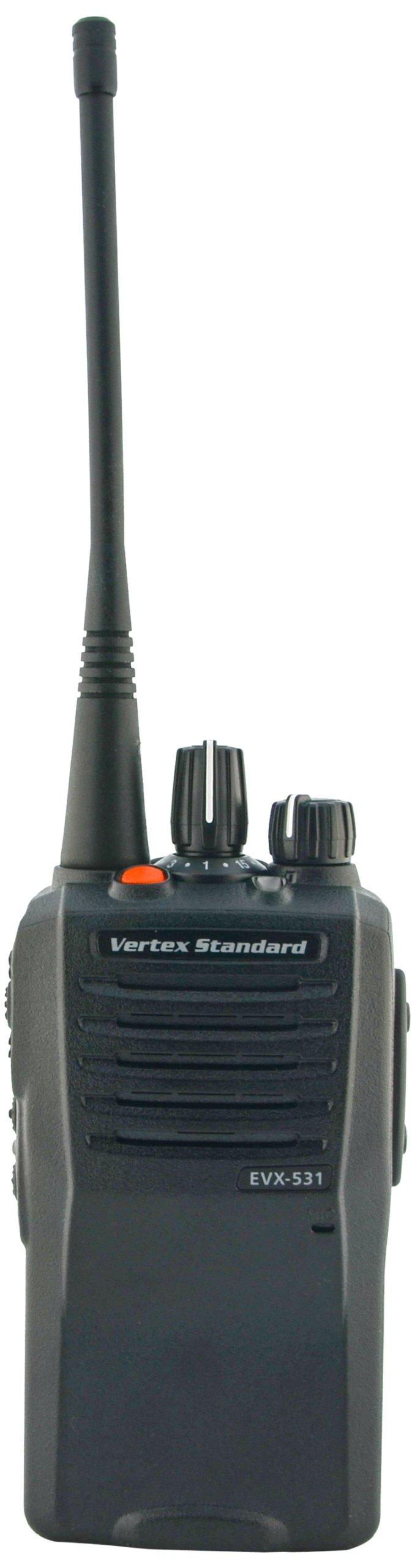 Vertex EVX531-G7UNEP Business/Industrial DMR Digital/Analog Portable UHF Universal Radio Package (Black)