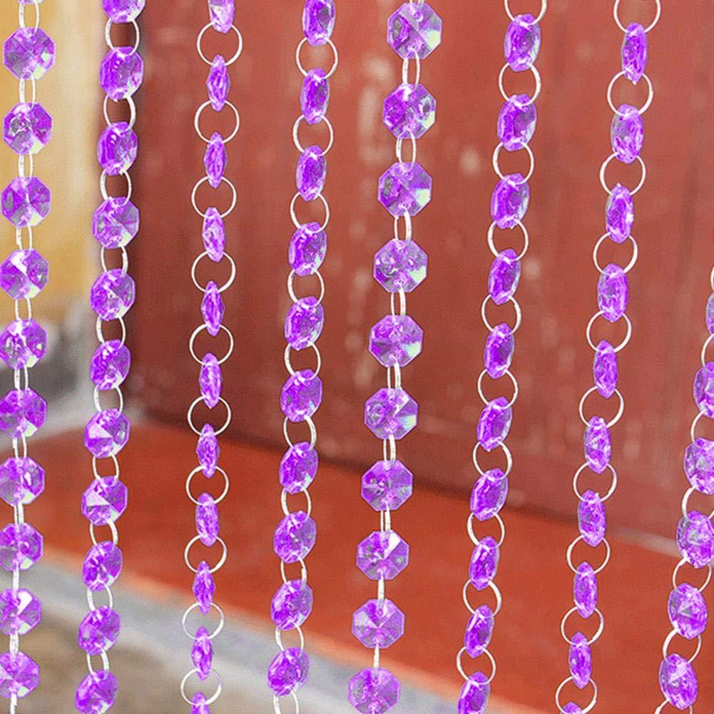 1/m acrylique perles de diamants de cristal chapelet pour rideaux Lustre pour portes D/écoration D/écoration de mariage Accessoires 5pcs 1