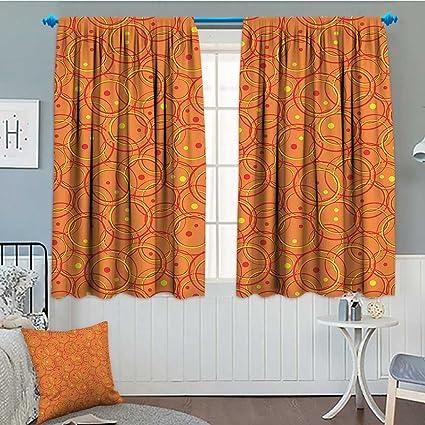 Amazon.com: Burnt Orange Decor Collection Thermal/Room Darkening ...
