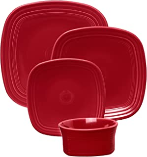 product image for Fiesta 10-3/4-Inch Square Dinner Plate, Scarlet