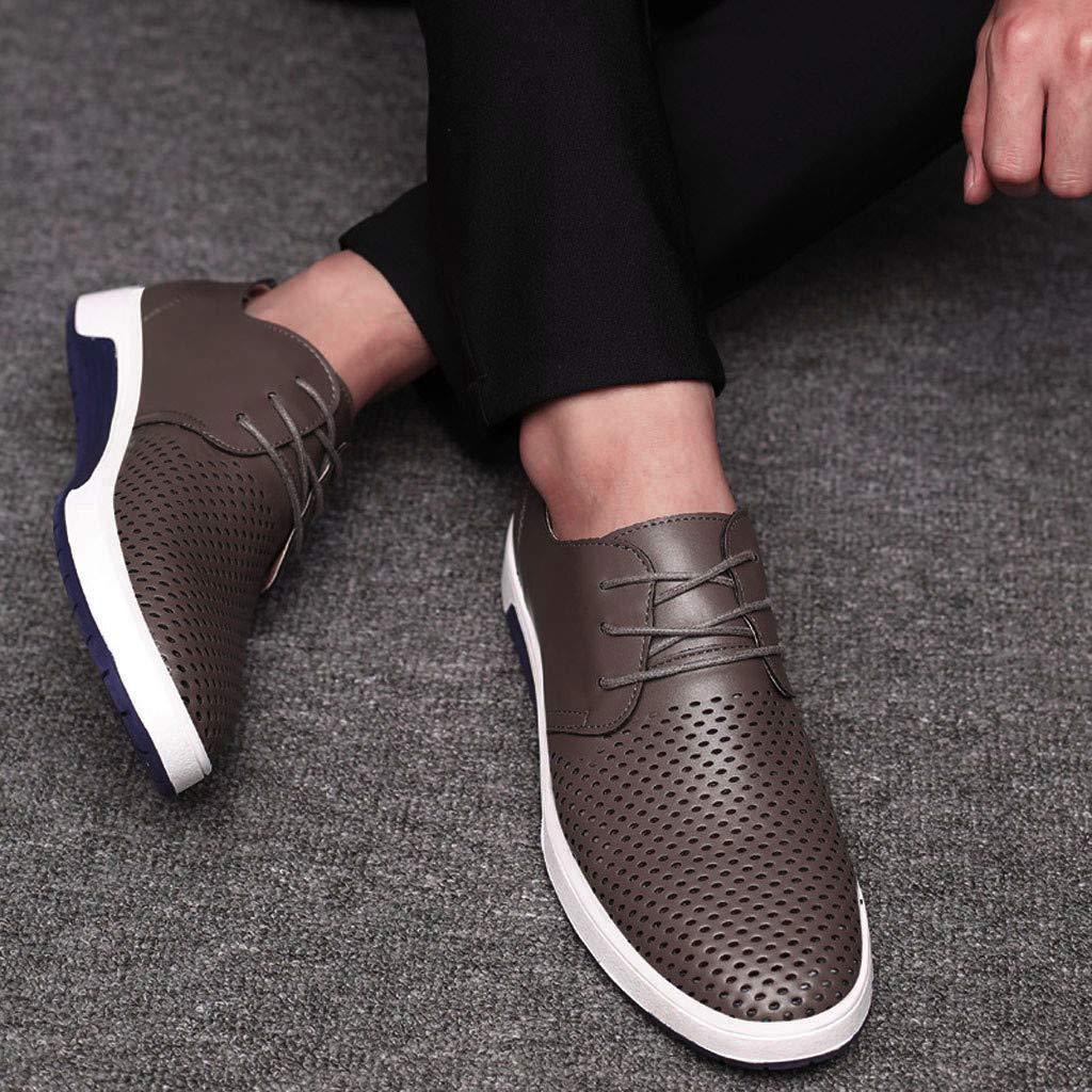 Sayla Zapatos Zapatillas para Hombres Casual Moda Verano Zapatos De Cuero Marca Hoyos con Cordones Respirables Zapatos Bajos Entrega Env/íO De La Gota