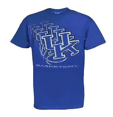 ac3361876143 Amazon.com  University of Kentucky Wildcats UK UK 3D Basketball T Shirt Blue   Clothing