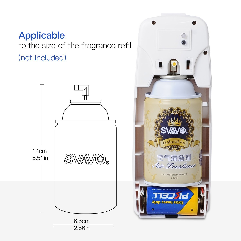 SVAVO V-251 ABS Plastic Automatic Aerosol Dispenser Air Freshener Spray Dispenser, White, Pack of 1 by SVAVO (Image #4)