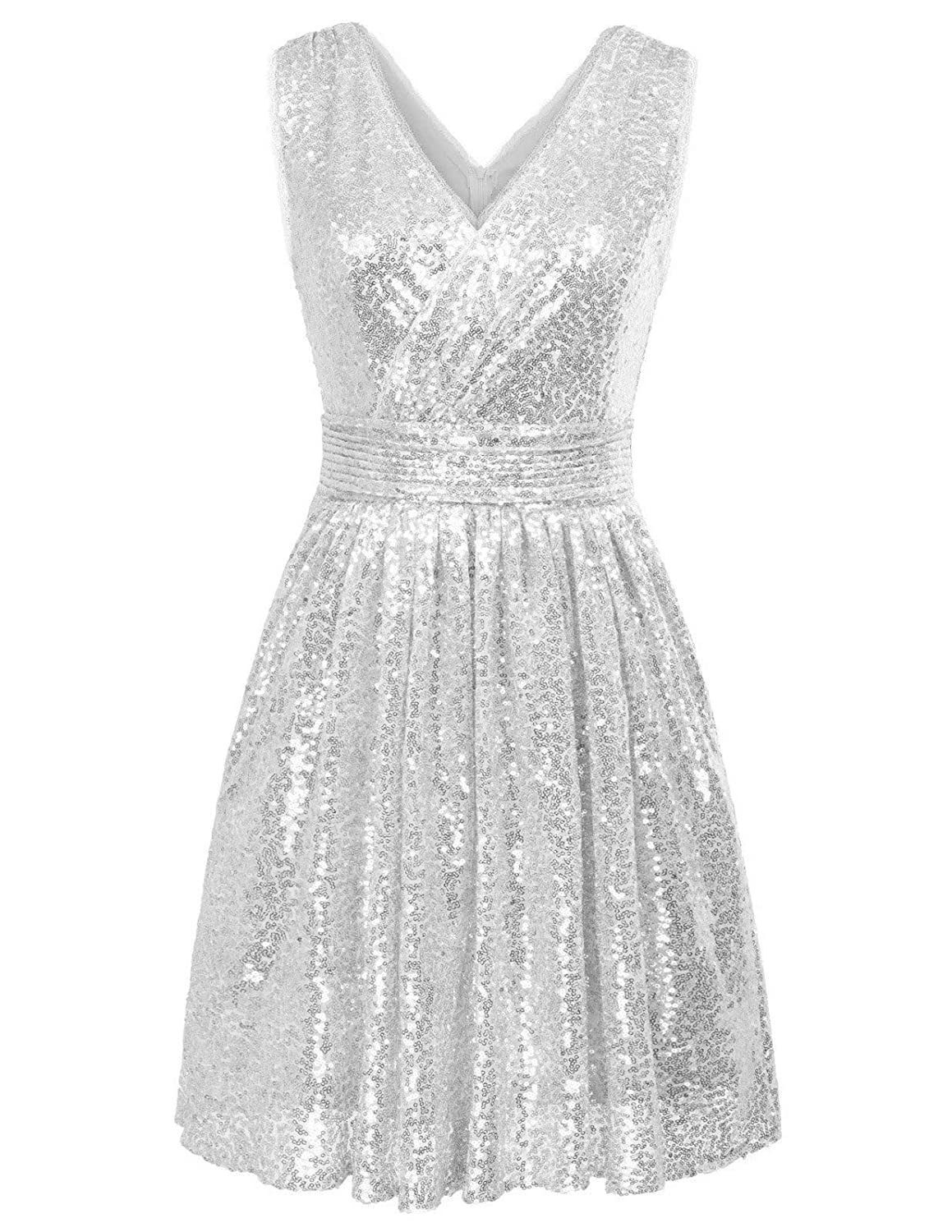 80s Dresses | Casual to Party Dresses Kate Kasin Women Sequin Bridesmaid Dress Sleeveless Maxi Evening Prom Dresses $59.99 AT vintagedancer.com