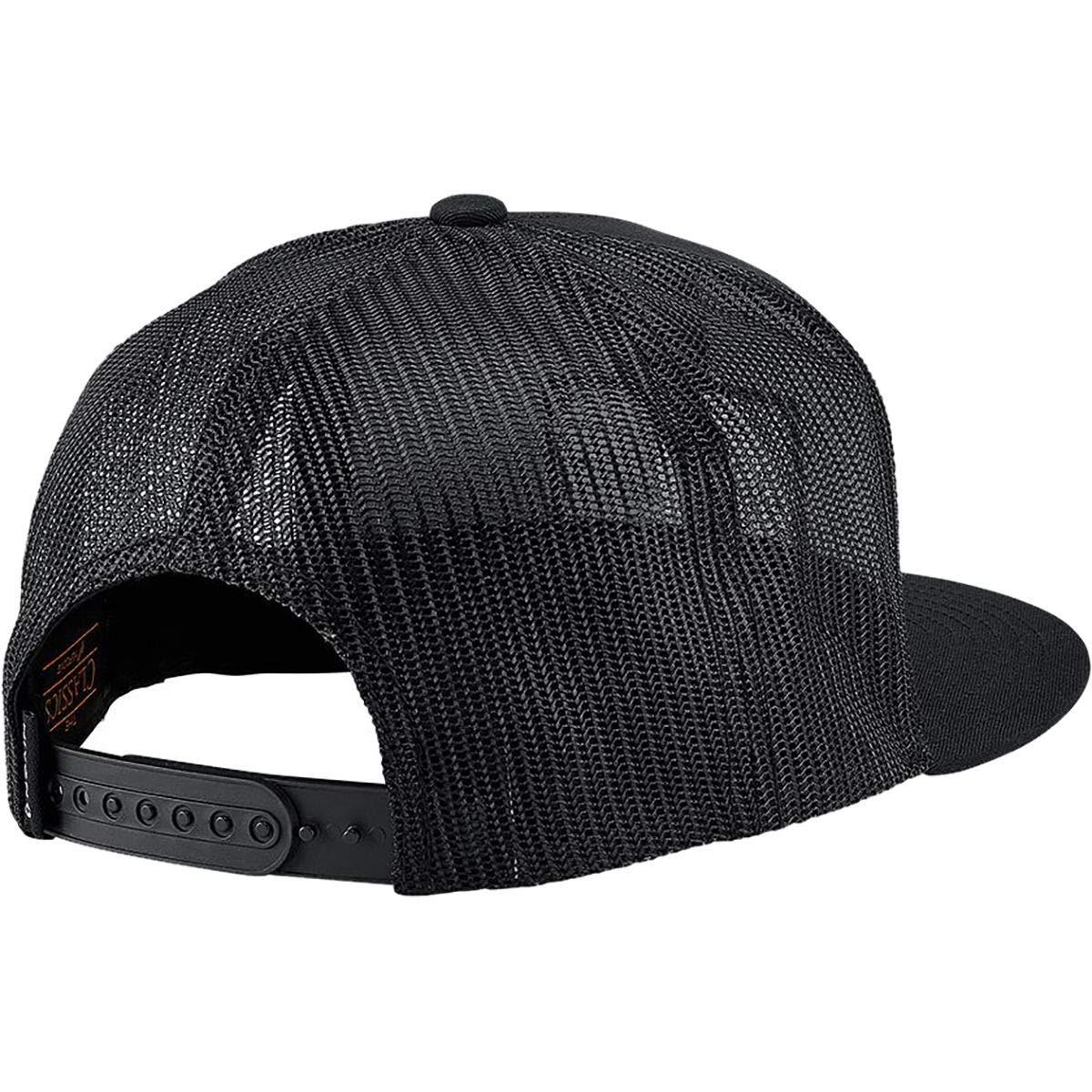 d9b73e4973c5e Amazon.com  Nixon King Trucker Snapback Hat Black White  Clothing