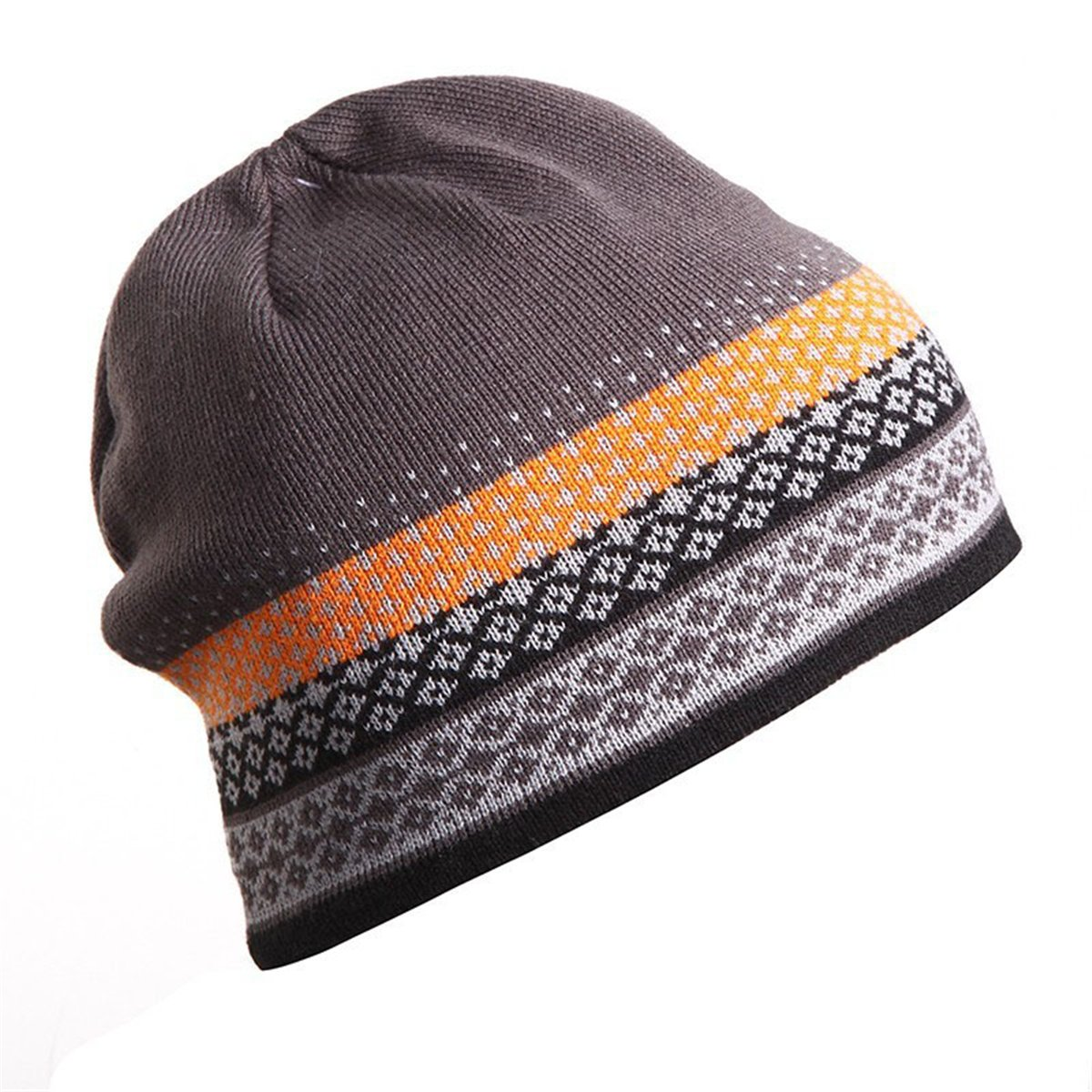 Apparelsales Mens Winter Skiing Snow Stretch Knitting Hat Cap Hearwear Lindaeshop