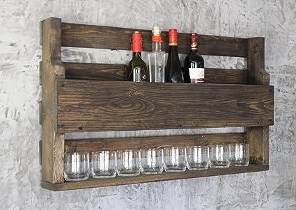 Len mar co uk rw vino in legno a scaffali per bottiglie