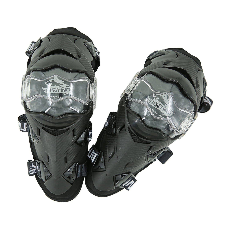 Black Knee Guards KN01 Huntingwolf Racing Knee /& Shin Guards MTB Motorcycle Motocross Protective Gear