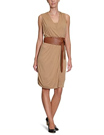 ESPRIT Collection Damen Kleid Knielang U23742, Gr. 42 (XL), Bronze ... feca979fb9