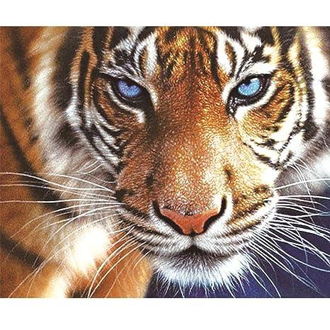 Tiger 5D DIY Diamond Painting Diamant Kreuztich Stickerei Malerei Bilder Deko
