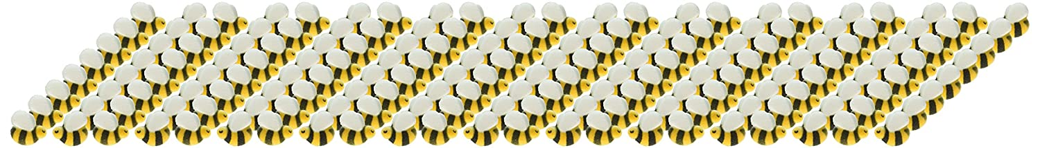 Lucks Dec-Ons Decorations Molded Sugar//Cup-Cake Topper Bumble Bees Assortment 176 Count Oasis Supply 1 Inch