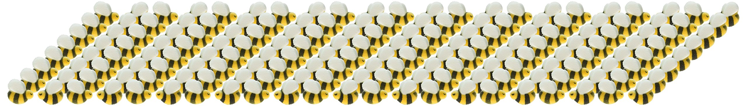 Lucks Dec-Ons Decorations Molded Sugar/Cup-Cake Topper, Bumble Bees Assortment, 1 Inch, 176 Count by Lucks (Image #1)