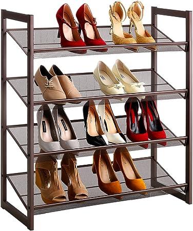 LANGRIA 4 Tier Meuble à chaussures pour 16 paires de