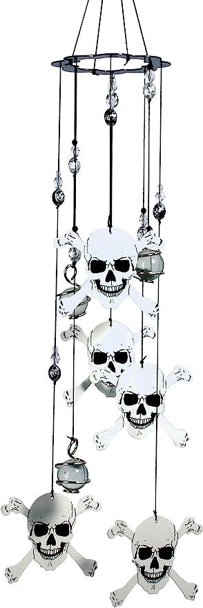 skull crossbones wind chime