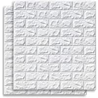 70 x 77 cm, 3D baksteenpatroon, muursticker, zelfklevend behang, geluidsdicht, waterdichte achtergrondwanddecoratie, doe…