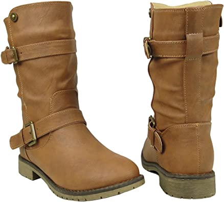 TG By KSC Womens Mid Calf Boots Buckles