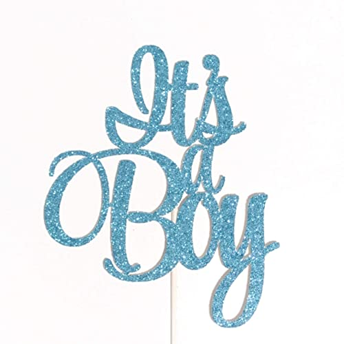 699a00cf0ad22 Amazon.com: Its a Boy Cake Topper, Baby Boy Cake Topper, Gender ...