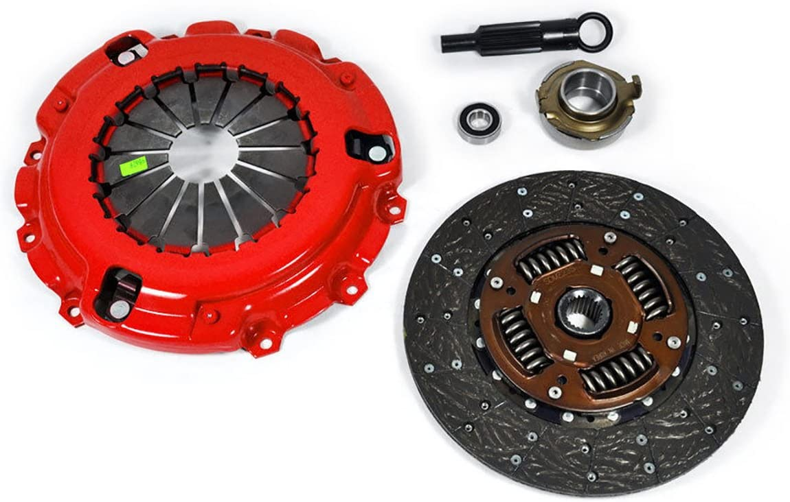 Clutch Kit Works With Mazda B2600 Base LE-5 SE-5 Passenger Cargo LX 1989-1993 2.6L l4 GAS SOHC Naturally Aspirated FUEL INJECTED ENGINE ONLY; Stage 1
