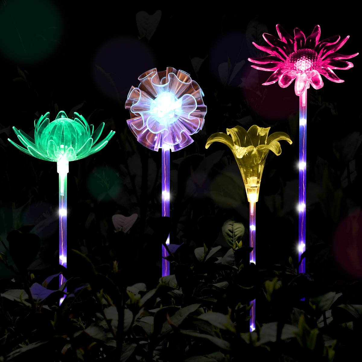 deals sale  YUNLIGHTS 8pcs Garden Solar Lights Outdoor Solar Tube ...