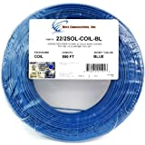 22 Ga Gauge 2 Conductor UL SOLID COIL PACK BLUE 500 FT Security Alarm Wire