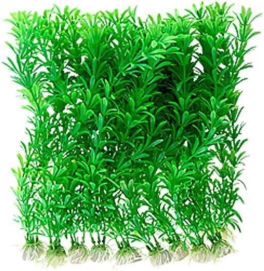 NAYUKY Ornamento Planta Agua de la Hierba Verde para Las Plantas del Acuario Artificial del Acuario pl/ástico Decoraci/ón acu/áticos
