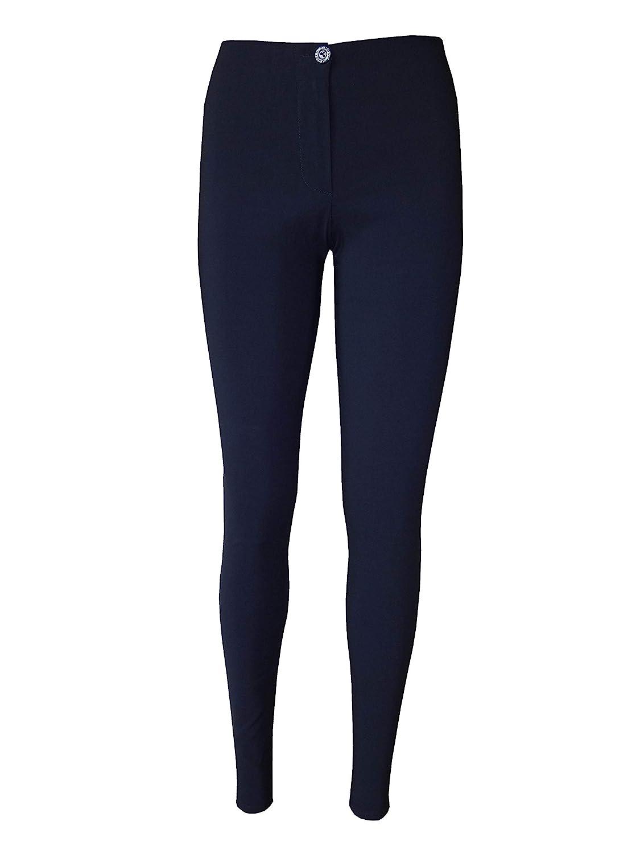 afe127bee507 eyes Girls Navy Blue Skinny School Trousers Women Ladies Office Work  Trousers: Amazon.co.uk: Clothing