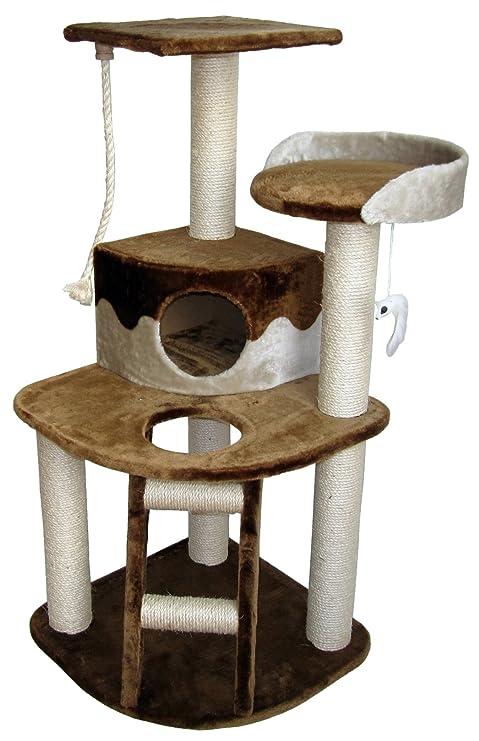 A.K. for Pets 40277 gato Muebles Acero Blanco, 50 x 50 x 120 cm,