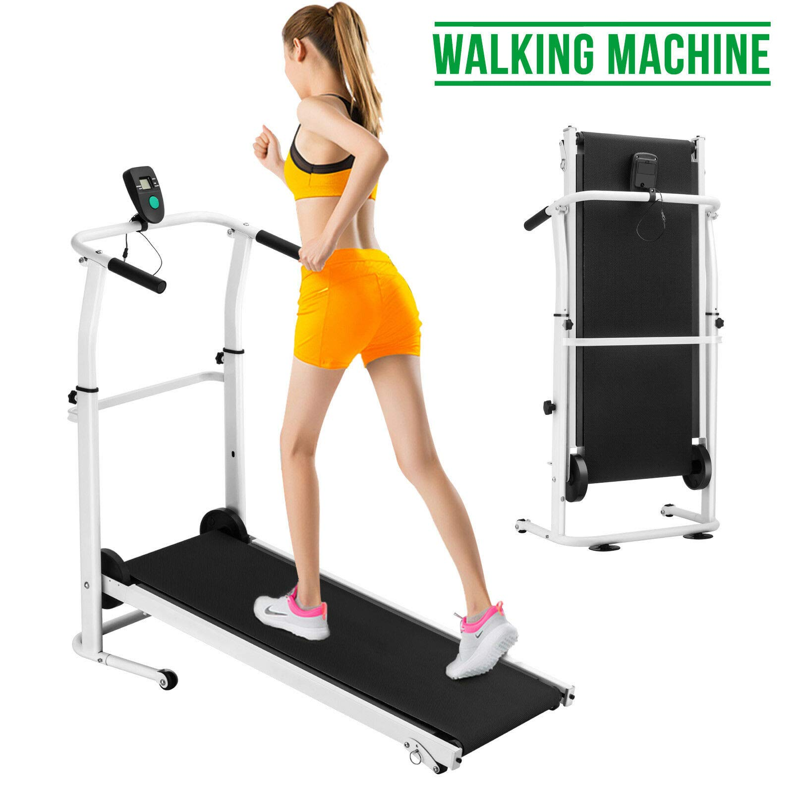 MB-Sportstar Manual Treadmill Working Machine Cardio Fitness Exercise Folding Incline Home