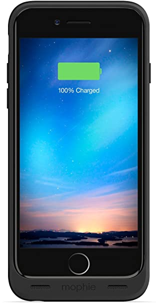 official photos a9cc6 a1208 mophie Juice Pack Reserve - Lightweight and Compact Mobile Protective  Battery Case compatible with iPhone 6/6s - Black (Renewed)