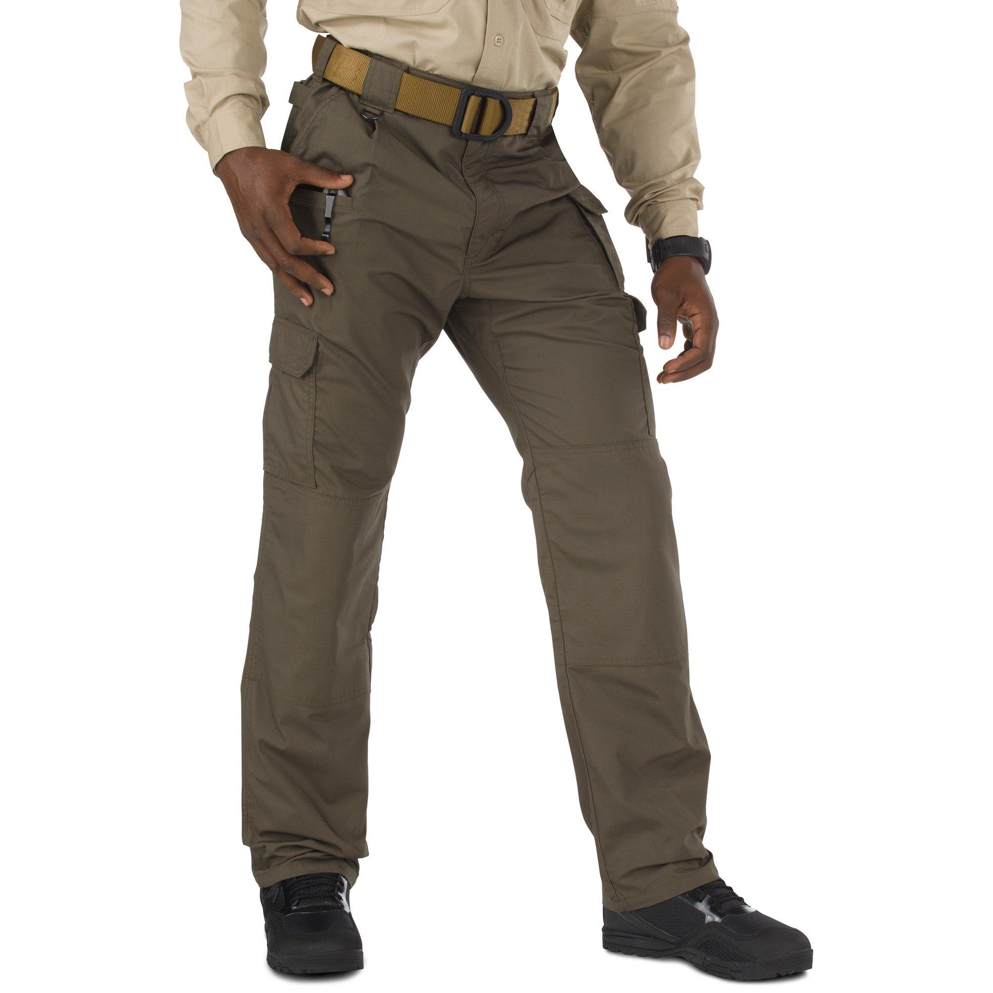 5.11 Men's Taclite Pro Tactical Pants, Style 74273, Tundra, 48W Unhemmed
