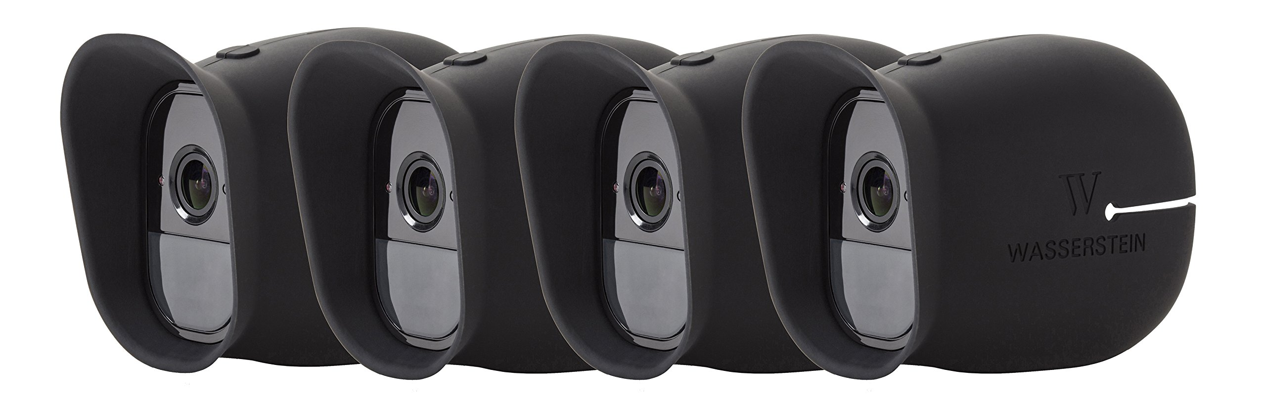 Wasserstein 4 x Silicone Skins Compatible With Arlo Pro & Arlo Pro 2 Smart Security - 100% Wire-Free Cameras — by (Black)