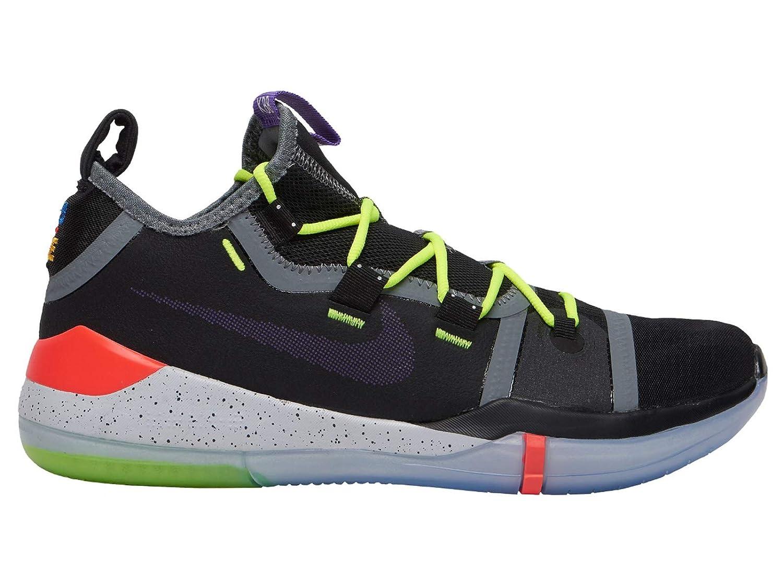 official photos c621d b54b7 Nike Men's Kobe AD Black/Racer Blue Mesh Basketball Shoes 10 M US