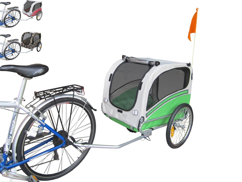 Polironeshop Snoopy - Remorque de vélo pour transporter chien, animal, etc. M vert
