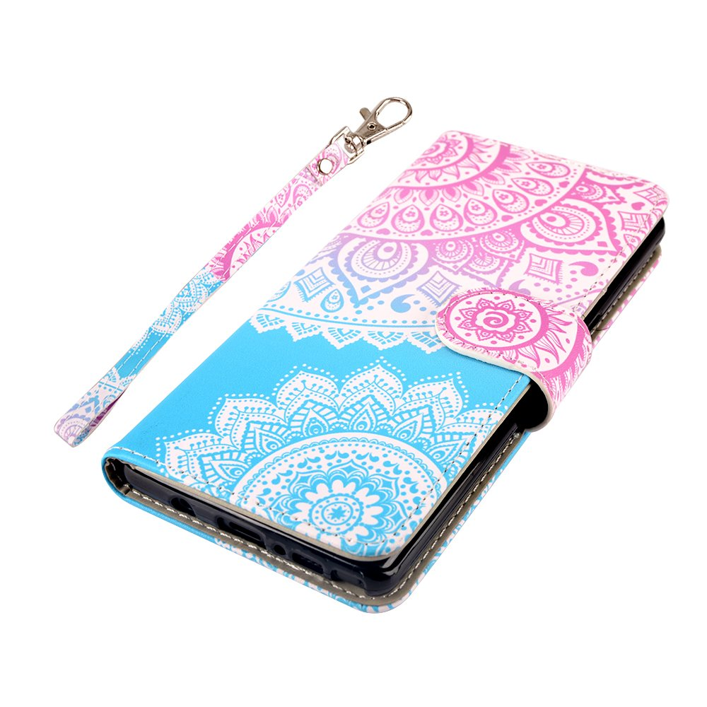 Galaxy Note 8 Case, MagicSky Galaxy Note8 Wallet Case, Premium PU Leather Wristlet Flip Case Cover with Card Slots & Stand for Samsung Galaxy Note8 - Mandala