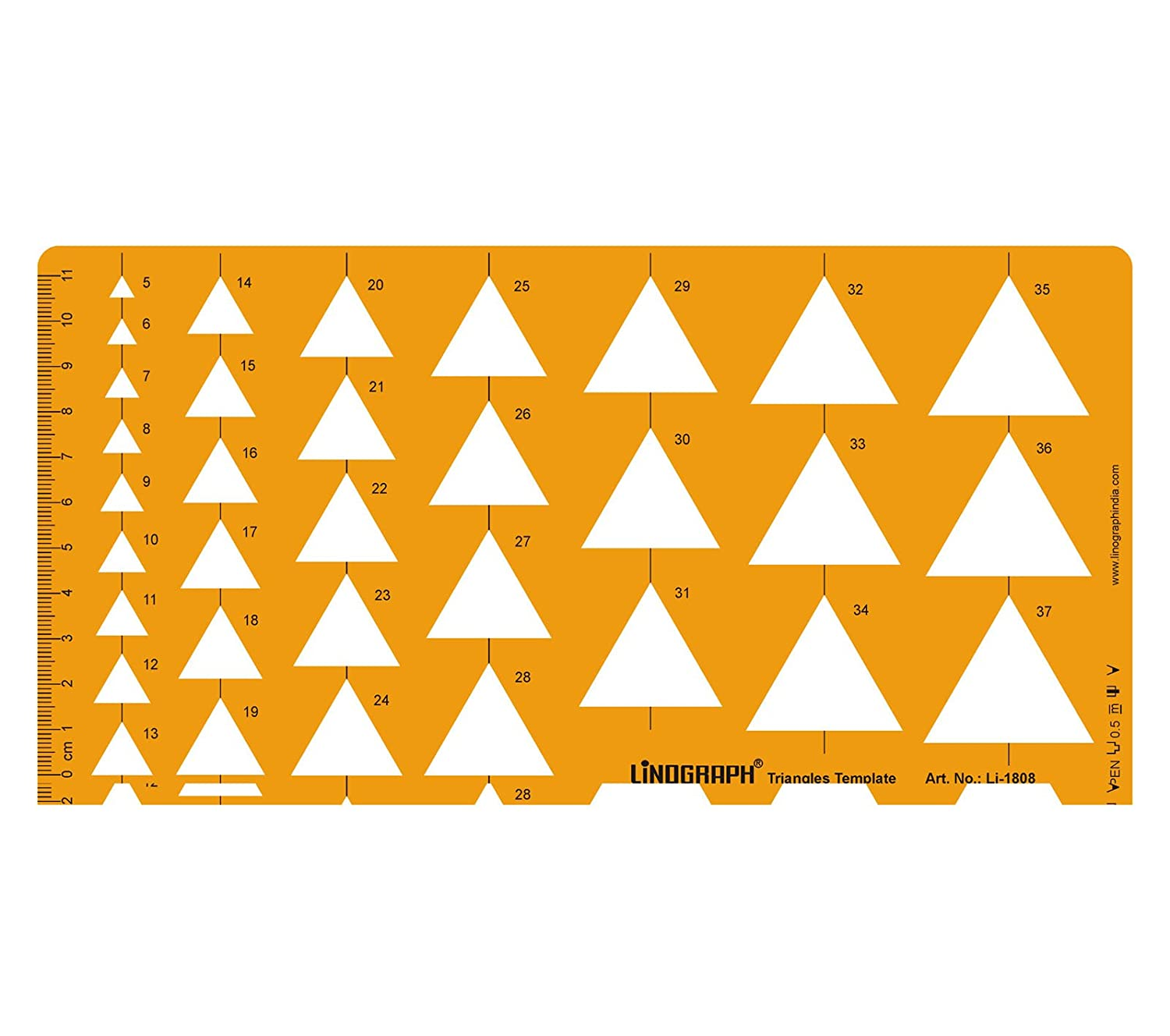 amazon com triangle shapes drafting and design template stencil