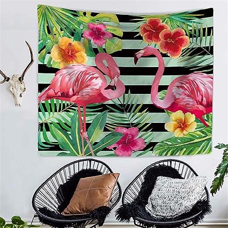 XXSZKAA Tapestry Tapices Colgantes Del Flamenco De La Impresión Toalla De Playa Bufanda Sala De Estar