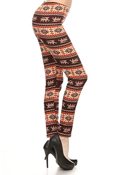 The Clothing Shop Women's Holiday Fair Isle Nordic Reindeer Fur ...
