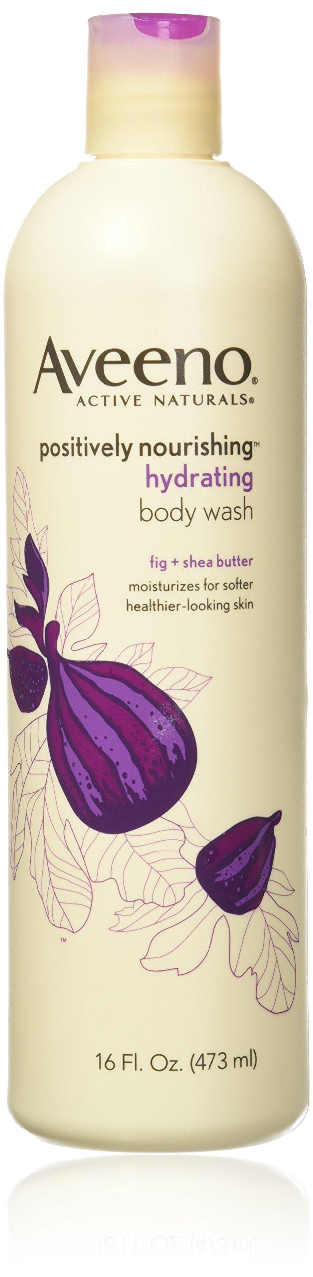 Aveeno Positively Nourishing Hydrating Body Wash, For Dry Skin 16 Fl. Oz