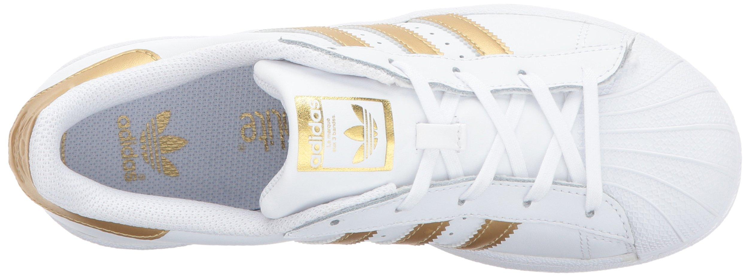 df14c9418b85e adidas Originals Unisex Superstar Running Shoe, White/Gold/Blue, 11K ...
